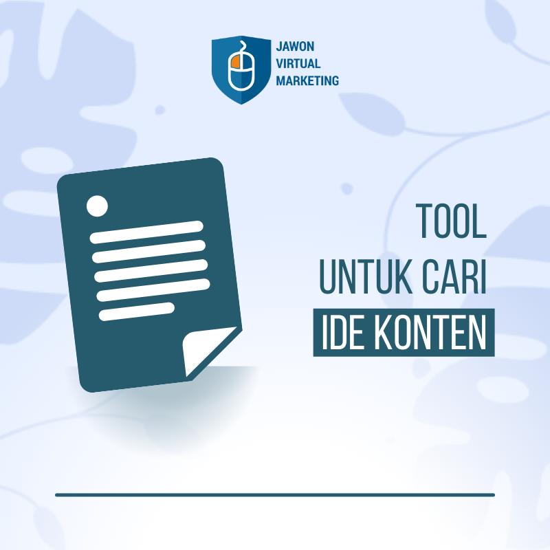 Tools Untuk Cari Ide Konten